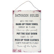Metallikyltti Bathroom Rules