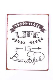 "Metallikyltti ""Life is beautiful"""